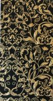 Wax foil - floral black/gold 100x200mm