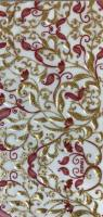 Wax foil - floral red/gold 100x200mm