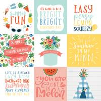 SUMMERTIME - 4X4 Journaling Cards